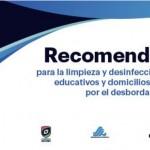 Guía de Limpieza y desinfección de planteles educativos y domicilios